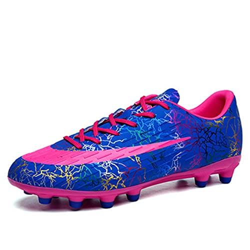 Inrrari Botas de fútbol para Hombres, Adolescentes Zapatos de fútbol de Resistencia al Aire Libre Césped Exterior Atletismo Profesional Zapatillas de Deporte Antideslizante Unisex