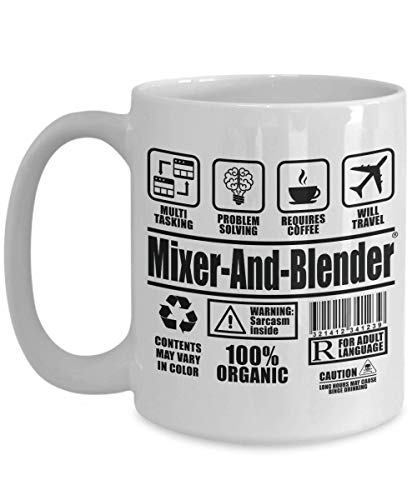 SnowLion Mixer-And-Blender Multi Tasking Problem Solving Requires Coffee Will Travel,gift Ceramic Coffee Mug for dad, mom, best friends