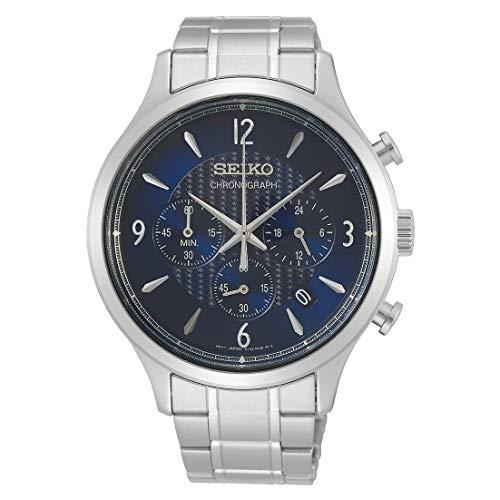 Seiko Herren Chronograph Quarz Uhr mit Edelstahl Armband SSB339P1