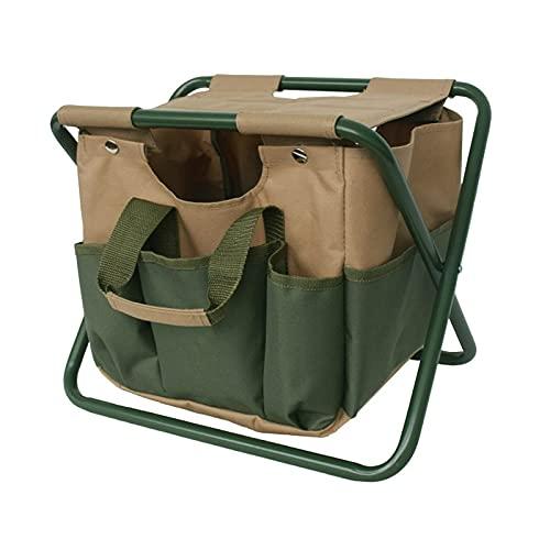 rhtsbts 2 en 1 Silla de Pesca Plegable Bolsa de Mano portátil Barbacoa Taburete Camping Senderismo Cooler Picnic Bag Senderismo Bolsa de Mesa Bear Bear 150kg (Color : Camo Folding Chair)