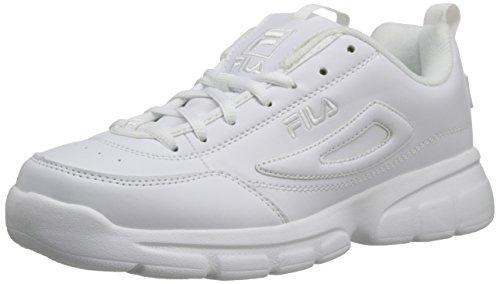 Fila Men's Disruptor SE Training Shoe, Triple White, 10.5 M US