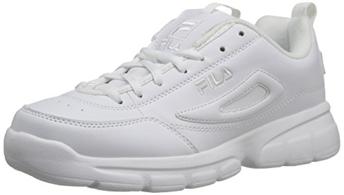 Fila Men's Disruptor SE Training Shoe, Triple White, 10.5 M US