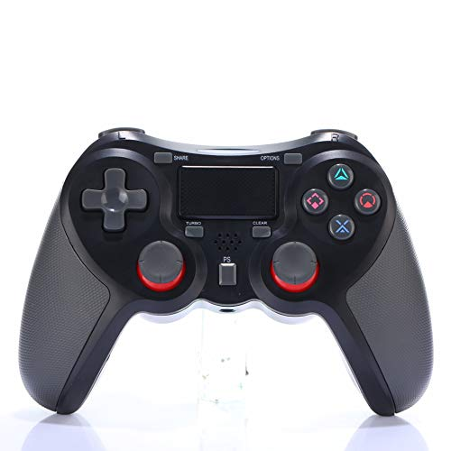 RONSHIN Smart voor Bluetooth Gamepad Draadloze Joystick Controller voor Playstation 4 PS4 Game Console Ondersteuning Android TV, Zwart