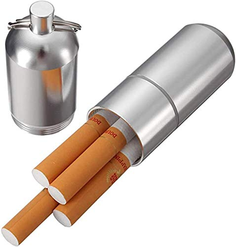 Gymqian Soporte de Aluminio de Cigarrillo Casemini con Anillo de Llaves - Cable Redondo Impermeable de Bolsillo cajas de cigarrillos