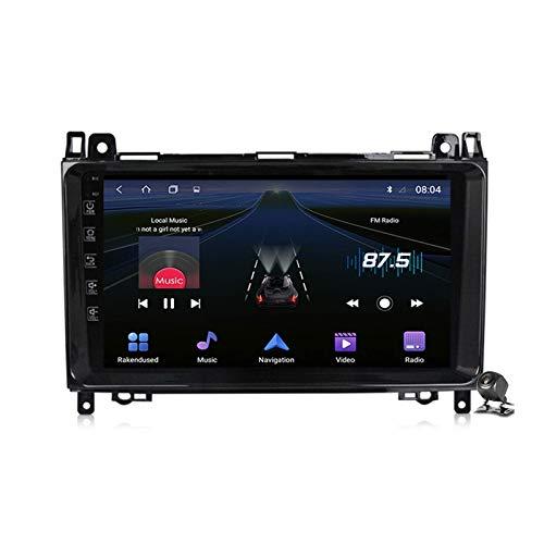 Autoradio Android 9.0 Radio per Mercedes Benz Classe B W245 W169 W639 W906 2004-2012 Navigazione GPS Touch screen da 9 pollici Unità principale MP5 Lettore multimediale Video con 4G WiFi DSP Carplay