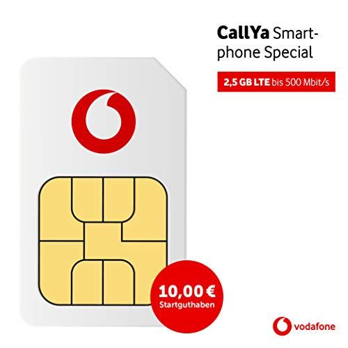 Vodafone Callya Smartphone Special inkl. 10€ Startguthaben Prepaid SIM Karte ohne Vertrag im D2-Netz