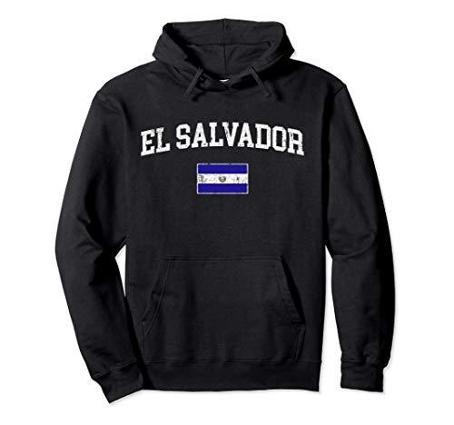 Bandera de El Salvador Vintage orígenes salvadoreños Sudadera con Capucha