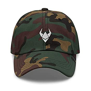 VANN S PRODUCTS LLC Dad Hat Ethereum Crypto Bull Market ETH Cryptocurrency DeFi Embroidered Cap Green Camo