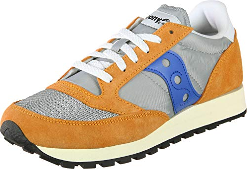 Saucony Herren Jazz Original Vintage Sneakers, Orange Gris Bleu, 45 EU
