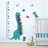 ufengke Altura Pegatinas de Pared Dinosaurios Vinilos Adhesivas Pared Crecimiento Libros Decorativos para Dormitorio Habitación Infantiles Niños