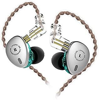 KBEAR KB 06 インイヤーモニター ミニメタルイヤホン 6ドライバー ハイブリッドユニット HiFiイヤホン 耳に音楽家 モニターヘッドホン ハイファイハイファイヘッドセット 取り外し可能な0.75mm Cピンケーブル付き(マイクなし、ブラック) No mic シルバー HIFI-KB64683E1Silve-KBEARKB06-01