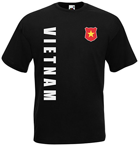Vietnam WM-2022 T-Shirt Trikot Wunschname Nummer Schwarz L
