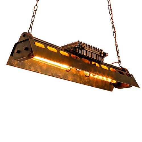 OUKANING Industrie Schmiedeeisen Deckenpendelleuchte Vintage Pendellampe Rectangle Hängeleuchter Leuchte industrielle Retro Pendelleuchte ür Wohnzimmer Restaurant Keller Bar usw