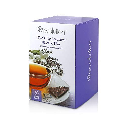 Revolution Tea - Earl Grey Lavender Black Tea | Premium Full Leaf Infuser Teabags - Improves Digestion (20 Bags Each - 6 Pack)
