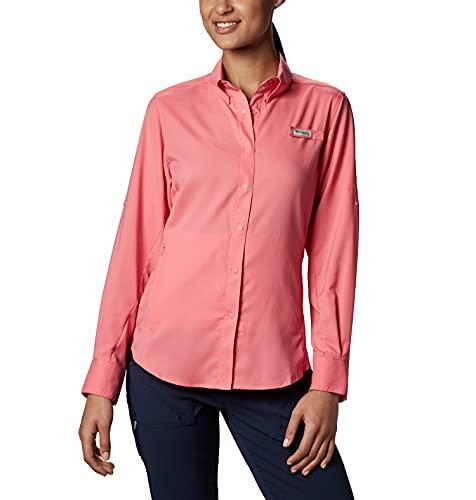 Columbia Sportswear Womens Tamiami Ii ls shirt, Lollipop, Medium