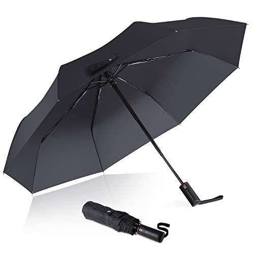 Reyleo Ombrello portatile automatico antiviento, ombrello...