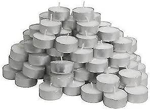 Ikea Medge Lot de 90 Bougies Chauffe-Plat parfum/ées /à la Cannelle avec coupelles /à Effet Paillettes Rouge