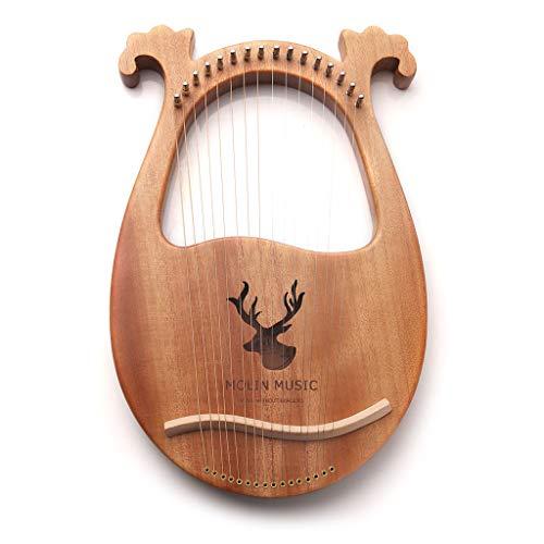 AOIXBCUROC 16 Saiten Mahagoni Holz Harfe 16 Ton Harfe Tragbar Lyra Musikinstrument Geschenk a