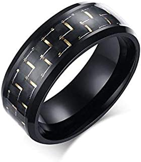 Ring Unisex carbon titanium yellow size 11