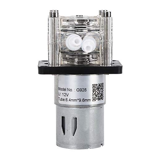 Bomba peristáltica dosificadora G928, 500 ml/min Rodamientos de bolas de flujo grande Bomba de acero inoxidable 304 para laboratorio de acuarios(12V)