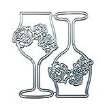 Catyrre - Plantillas de metal para troquelar con diseño de rosa vino, para manualidades, álbum de recortes