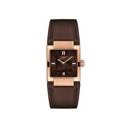 Tissot Reloj Analógico para Mujer de Cuarzo con Correa en Cuero T090.310.37.381.00