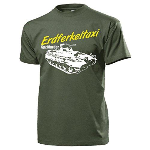 Erdferkeltaxi SPZ Marder Schützenpanzer Spitzname BW Grenni - T Shirt #15549, Farbe:Oliv, Größe:Herren XL