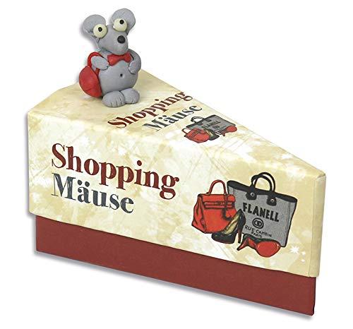 KAMACA Pudełko na prezent, kawałek tortu na prezenty pieniężne, małe prezenty, opakowanie na prezent, bon na prezent pieniężny, urodziny (pudełko na prezent na zakupy mysz)