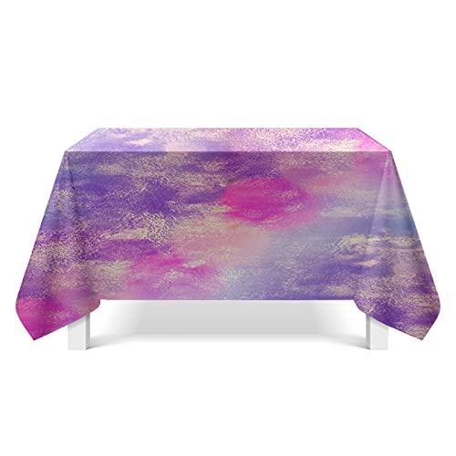CYYyang Wachstuch-Tischdecke Abwaschbar Gartentischdecke Wachstischdecke Plastik-Tischdecken Bunte Texturkunst
