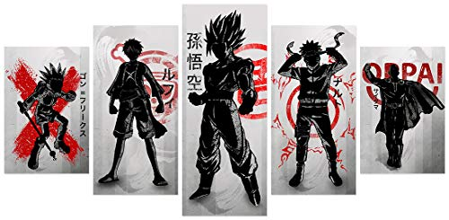 Poster Cool Japanese Anime Figure Posters Unframed for Bedroom