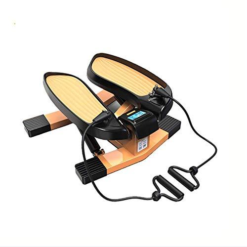 XYLUCKY Stair Stepper para Ejercicios-Twist Piedleper, Entrenamiento Stamina Mini Paso a Paso, con Bandas de Resistencia y Capacidad de Peso de 150 kg