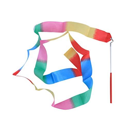 BESPORTBLE 6M Rhythmic Art Gymnastics Ribbon mit Stick Kinder Tanzen Streamers Riband Wirbelstange