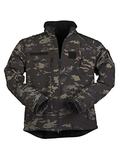 Mil-Tec Softshell Jacke SCU 14 multitarn Black Gr.M