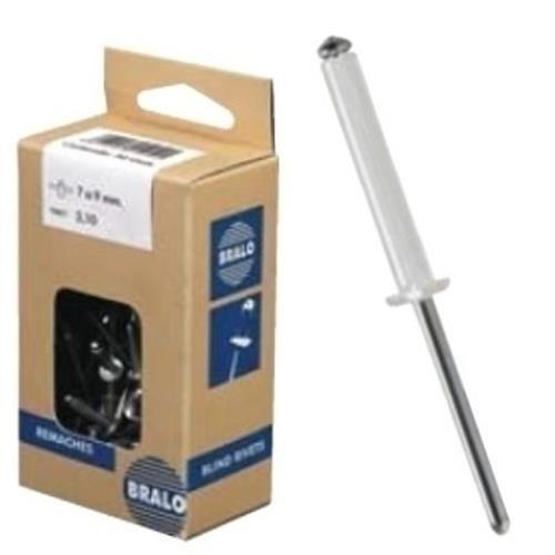 Bralo S1010BL4812 - Remache aluminio blanco minicaja 50pcs. 4,8x12