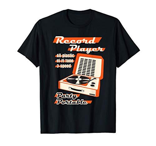 Vintage LP vinyl Record Player ビニールレコードプレーヤー Tシャツ