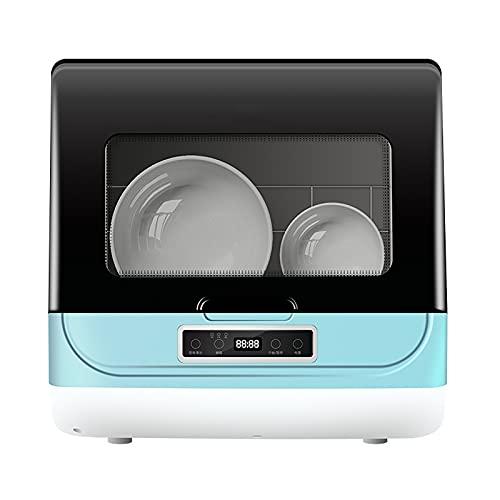 HE-XSHDTT Lavavajillas doméstico automático Secadora y Lavadora pequeña Instalación Gratuita de lavavajillas de Escritorio Artefacto de Lavado de Platos Perezoso