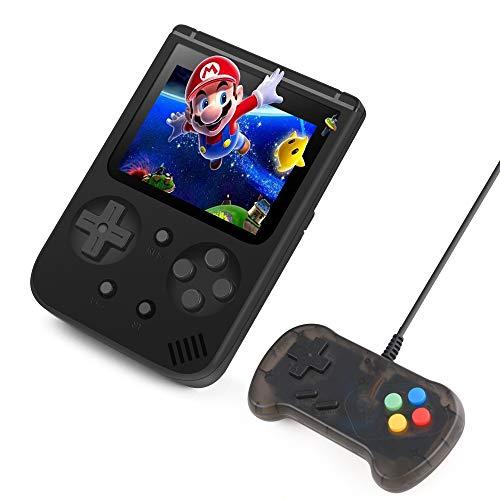 Handheld Spielekonsole, BAONUOR 500 Klassische Spiele Tragbare Retro-Spielkonsole Unterstützt Spielen an den TV Zwei Spieler für Kinder und Erwachsene