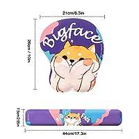 キーボードリストレスト ゲーミングキーボードの手首の残りのマウスパッド2本/セットゲーマーかわいい大きな顔マウスのマットの手首サポートパッドの人間工学的クッションサポートマット マウスリストレスト (Color : Camouflage)