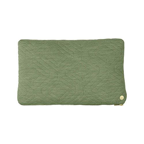 ferm LIVING Kissen Quilt 40 x 25 cm, green