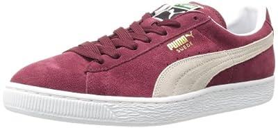 PUMA Suede Classic Sneaker,Cabernet/White,11 M US Men's