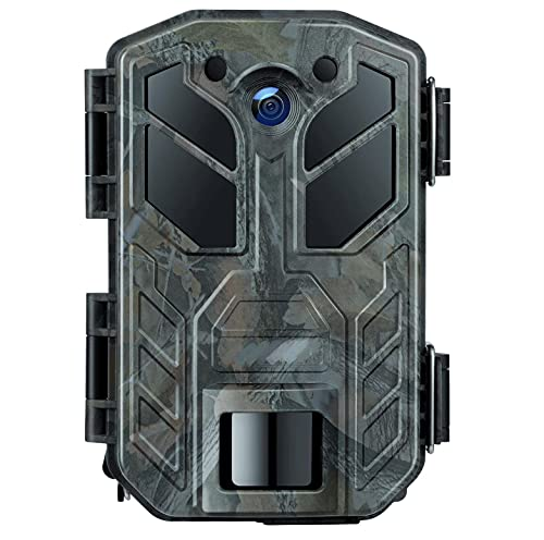 Fototrappola 30MP 4K Fotocamera Caccia con Visione Notturna a infrarossi 850NM LED Fino a 65 piedi/20m IP66 Impermeabile per Esterni Natura, Giardino, sorveglianza di Sicurezza della Pelle