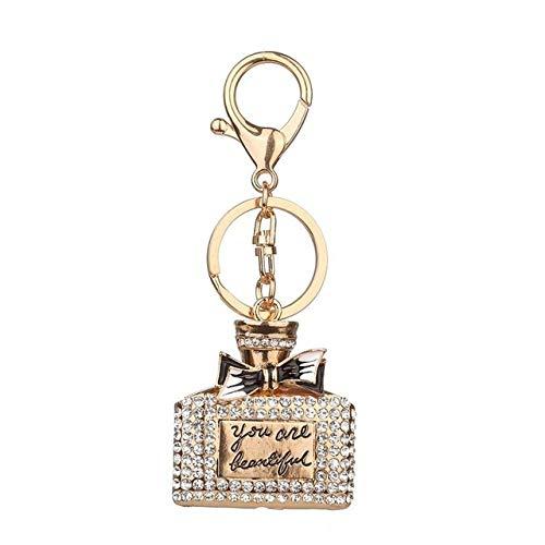 bobvc sleutelhanger Strass Legering Parfum Flessen Sparkling Charm Sleutelhanger Tas Handtas Sleutelhanger Auto Sleutelhanger