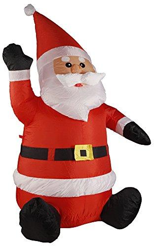 Babbo Natale gonfiabile 120 cm con ventola el...