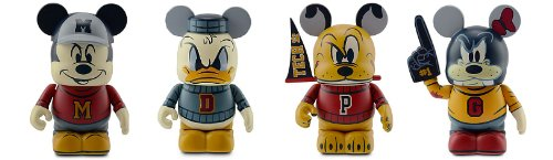 Disney Vinylmation Mascot Series Set of 4 Mickey, Donald Duck, Goofy, and Pluto