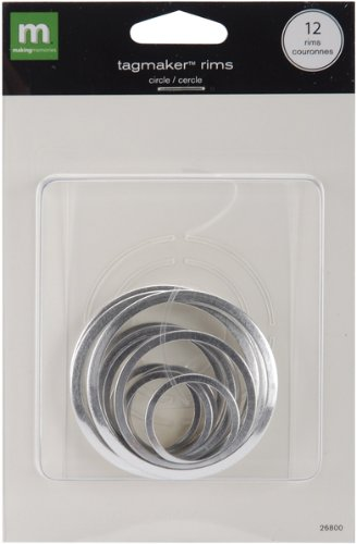 Making Memories Tag Maker Rims-Circle/2 Inch ,1.5 Inch & 1 Inch
