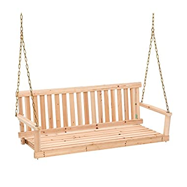 Jack Post Jennings Traditional 4-Foot Swing Seat with Chains in Unfinished Cypress