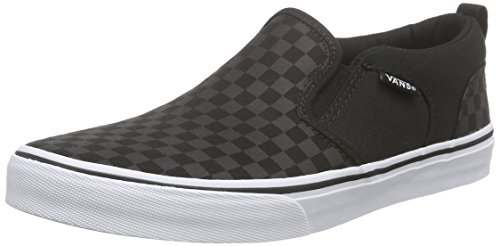 Vans Asher - Zapatillas para niños, color negro (checker/black/black), talla 39 EU