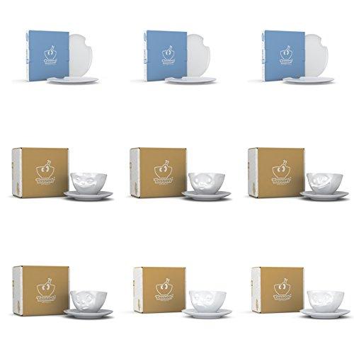 Kaffee-Service - Tassen by 58 PRODUCTS - ★★★ INKLUSIVE JE SET: 6 HOCHWERTIGE TISCHSETS - 42 x 33 cm ★★★ (Kaffee-Service 18-tlg.)