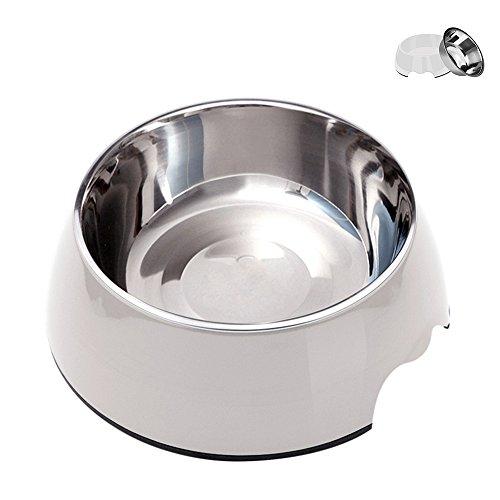 Zellar 2-in-1 Dog Food Bowls Large Pet Water Bowls Removable...