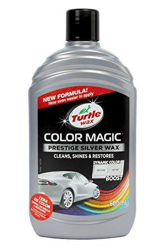 Turtle Wax Color Magic 52710 Car Polish Cleans Shines Restores Scratches  Prestige Silver Wax 500ml